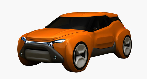 3D electric suv