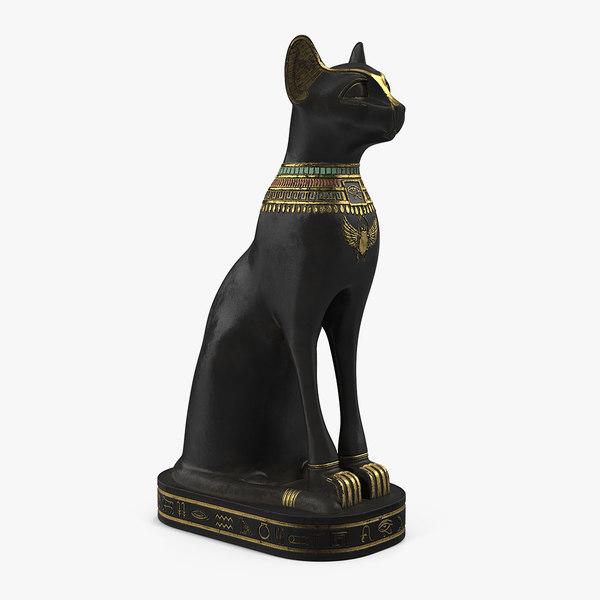 ancient egyptian black cat model