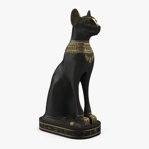 ancient egyptian black cat model