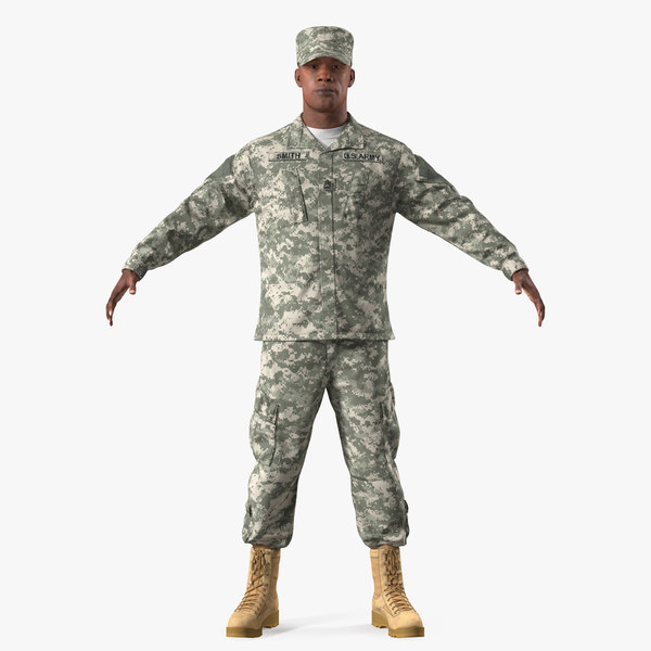 army black soldier uniform 3D model