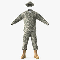 US Army Combat Uniform 3D Model