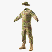 army combat uniform camo 3D