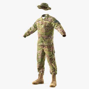 army combat uniform camo 3D