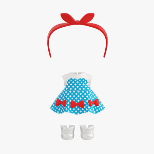 doll clothes set 3D
