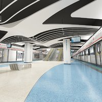 subway station way 3D model