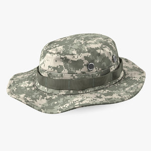 army acu boonie hat 3D model