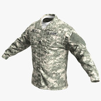 3D army acu jacket model