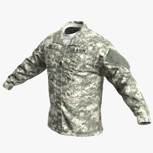 3D army acu jacket model