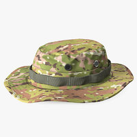 3D model army boonie camo hat