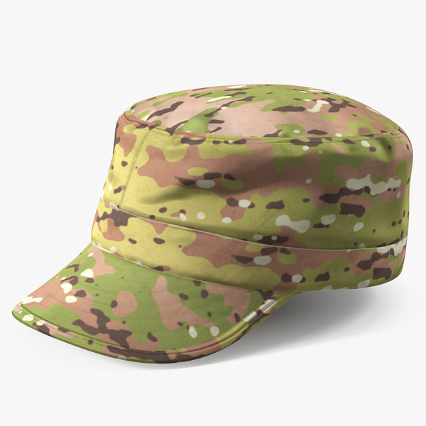 3D army camouflage hat