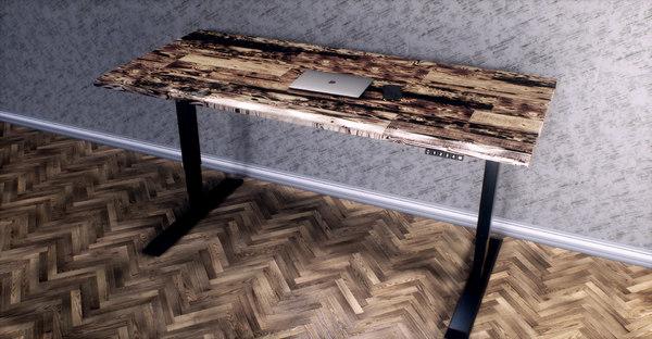 3D standing desk model