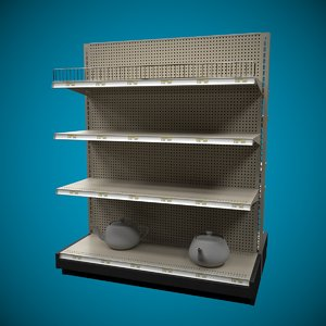3D shelf super markets
