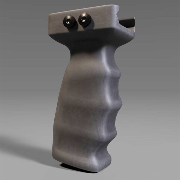 3D rifle vertical grip weapon model