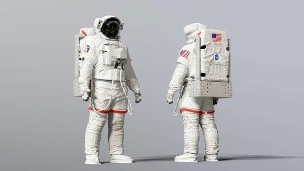 extravehicular emu space astronaut 3D model