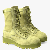 3D army military acu boots