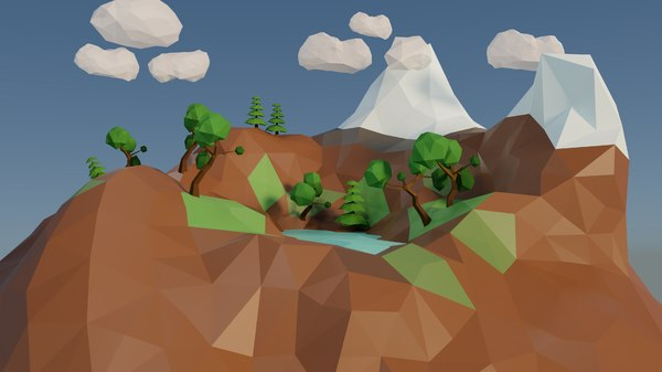 3D island trees model