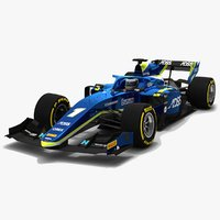 3D model carlin 1 f2 race car