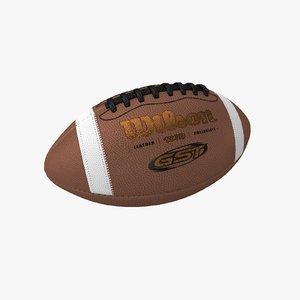 3D football ball wilson model