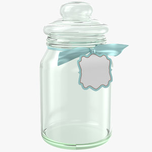 3D glass jar
