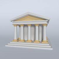 3D cartoon memorial model