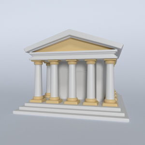 3D cartoon memorial model