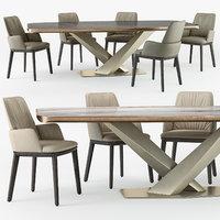 3D cattelan italia belinda armchair model