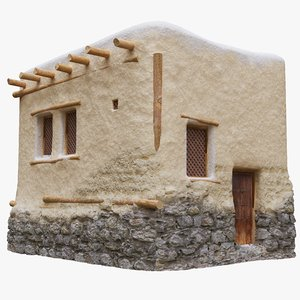 3D old arabic islamic house model