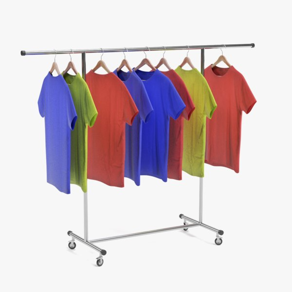 t-shirts stand 3D model
