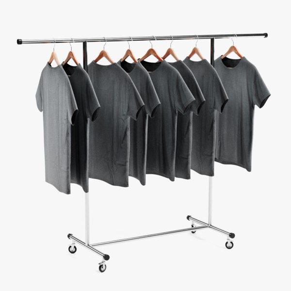 t-shirts stand 3D