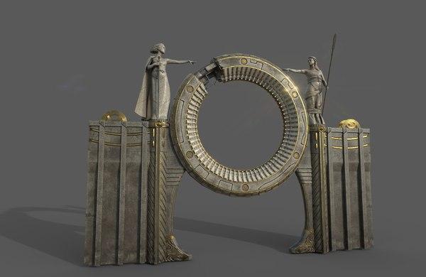 sculpture portal 3D model