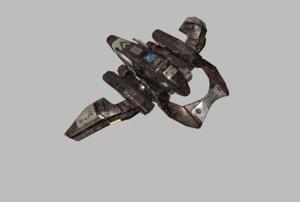 3D spacecraft spaceship starship
