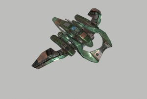 3D spaceship space ship