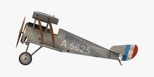 3D model hanriot hd 1 fighter aircraft