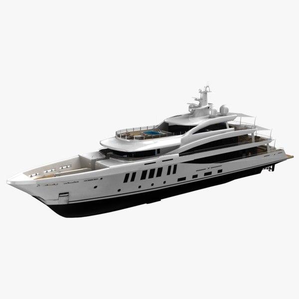amels 200 yacht 3D model