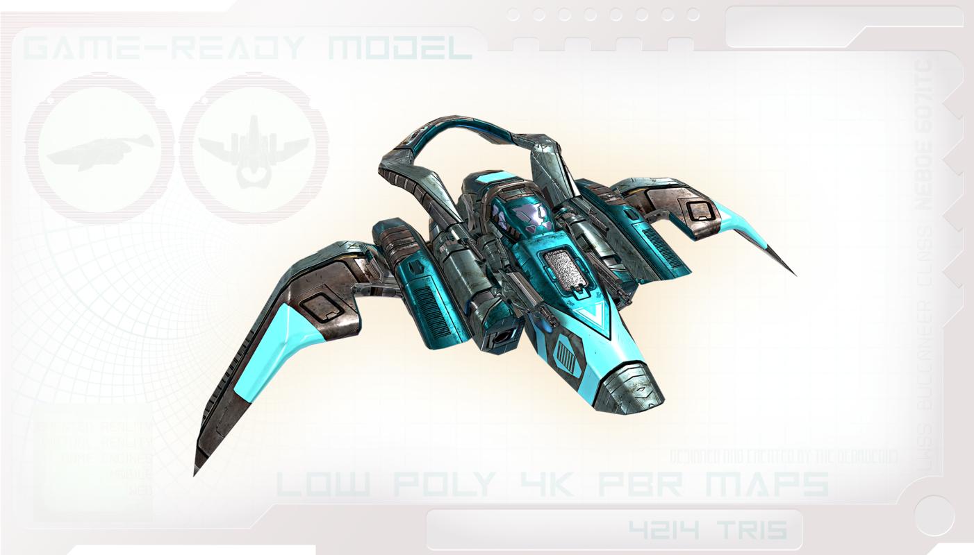 spaceship space ship 3D model