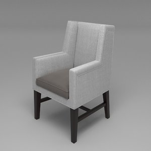 3D greenbrier wing chair