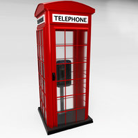 style phone booth 3D