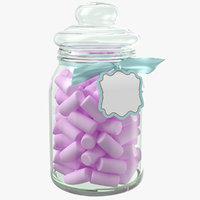 candy jar 3D
