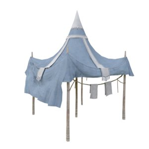 old tent 3D model