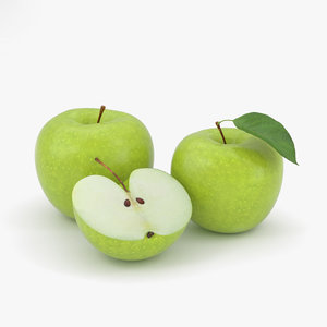 3D apple green model