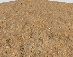 Arid desert terrain seamless PBR