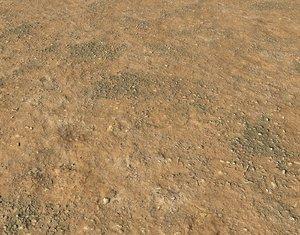 Arid desert terrain seamless 3 PBR