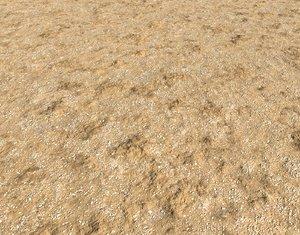 Arid desert terrain seamless 13 PBR