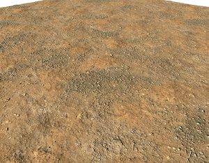 Arid desert terrain seamless 4 PBR