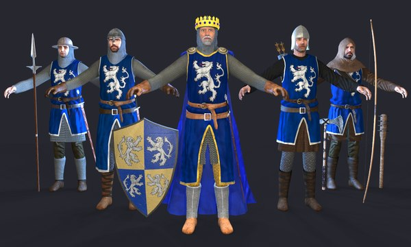 king knight medieval 3D