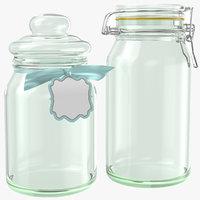 jars modeled glass 3D model