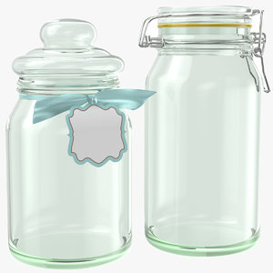 jars modeled glass 3D model