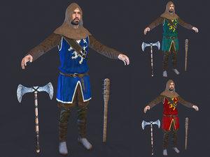 medieval militia 3D model