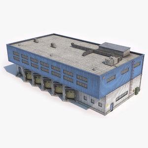 industrial building 18 dirty model