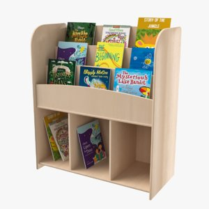 3D kids book shelf model